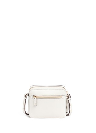 Back View - Click To Enlarge - Anya Hindmarch - 'Pixel Smiley' embossed lethe crossbody bag