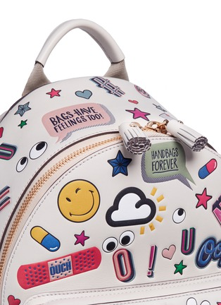 Detail View - Click To Enlarge - Anya Hindmarch - 'All Over Sticker' mini embossed leather backpack