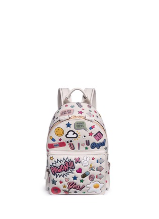 Main View - Click To Enlarge - Anya Hindmarch - 'All Over Sticker' mini embossed leather backpack