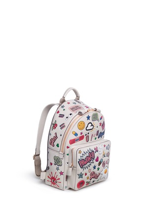 Figure View - Click To Enlarge - Anya Hindmarch - 'All Over Sticker' mini embossed leather backpack