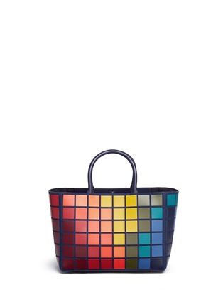 Back View - Click To Enlarge - Anya Hindmarch - 'Ebury Small Giant Pixel' patchwork suede tote