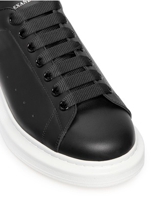 Detail View - Click To Enlarge - Alexander McQueen - 'Larry' leather sneakers