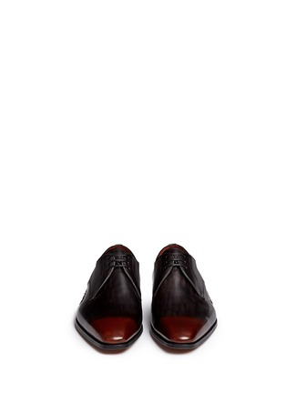 Front View - Click To Enlarge - MAGNANNI - Three eyelet leather Derbies