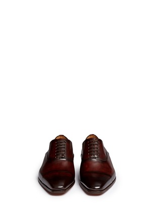 Front View - Click To Enlarge - Magnanni - Toe cap six eyelet leather Oxfords