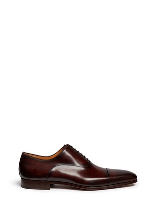 Main View - Click To Enlarge - Magnanni - Toe cap six eyelet leather Oxfords