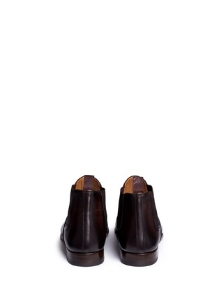 Back View - Click To Enlarge - Magnanni - Burnished leather Chelsea boots