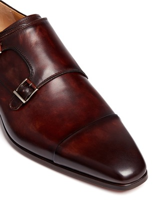 Detail View - Click To Enlarge - MAGNANNI - Leather double monk strap shoes