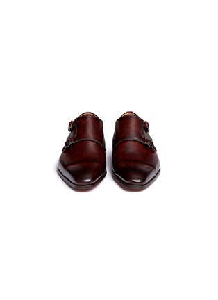 Front View - Click To Enlarge - MAGNANNI - Leather double monk strap shoes