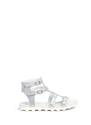Main View - Click To Enlarge - Stuart Weitzman - 'Gianna Gladiator' buckled kids sandals