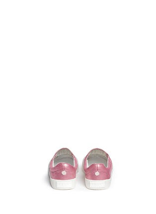 Back View - Click To Enlarge - STUART WEITZMAN - 'Vance Slider Toddler' perforated glitter slip-ons