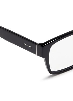 Detail View - Click To Enlarge - Prada - Square acetate optical glasses