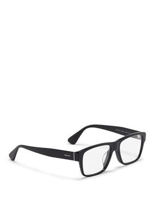Figure View - Click To Enlarge - Prada - Square acetate optical glasses