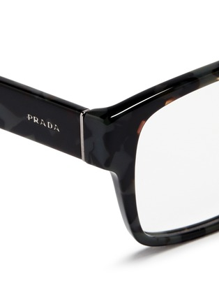 Detail View - Click To Enlarge - Prada Accessories - Tortoiseshell acetate square optical glasses