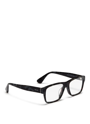 Figure View - Click To Enlarge - Prada Accessories - Tortoiseshell acetate square optical glasses