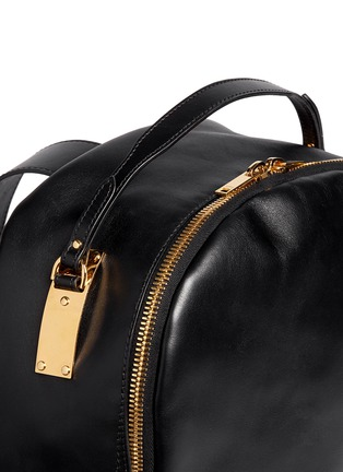 Detail View - Click To Enlarge - Sophie Hulme - Round leather backpack