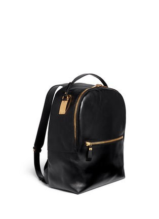 Front View - Click To Enlarge - Sophie Hulme - Round leather backpack