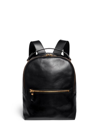Main View - Click To Enlarge - Sophie Hulme - Round leather backpack