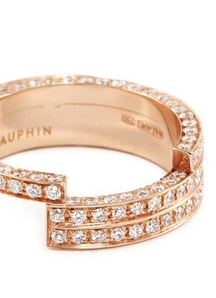 Detail View - Click To Enlarge - Dauphin - Diamond 18k rose gold three tier ring