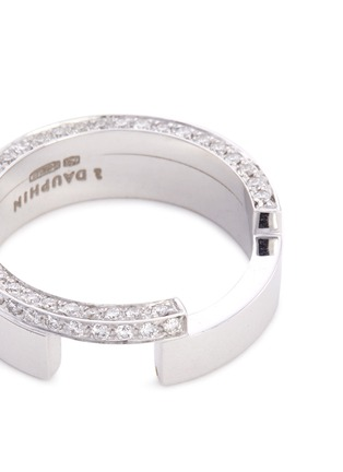 Detail View - Click To Enlarge - Dauphin - Diamond 18k white gold two tier ring