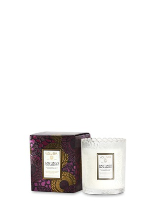 - VOLUSPA - Japonica Santiago Huckleberry scalloped edge scented candle