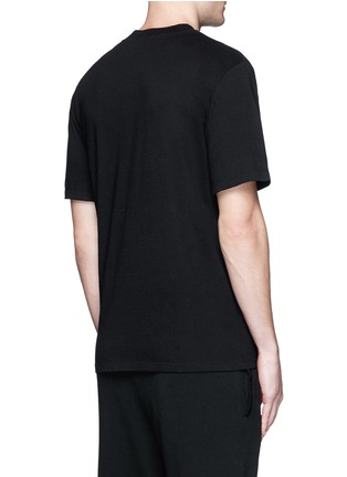 Back View - Click To Enlarge - T By Alexander Wang - High crew neck cotton jersey T-shirt