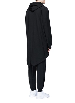 Back View - Click To Enlarge - T By Alexander Wang - Dip hem hooded jersey parka