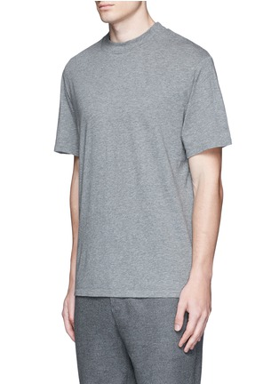 Front View - Click To Enlarge - T By Alexander Wang - High crew neck cotton jersey T-shirt