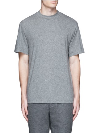 Main View - Click To Enlarge - ALEXANDERWANG.T - High crew neck cotton jersey T-shirt