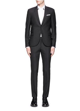 Main View - Click To Enlarge - Neil Barrett - Slim fit stretch gabardine suit