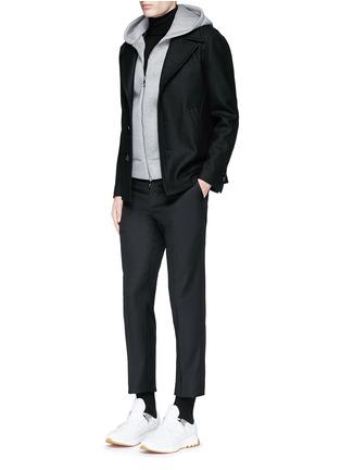 Figure View - Click To Enlarge - Neil Barrett - Slim fit vest underlay wool peacoat
