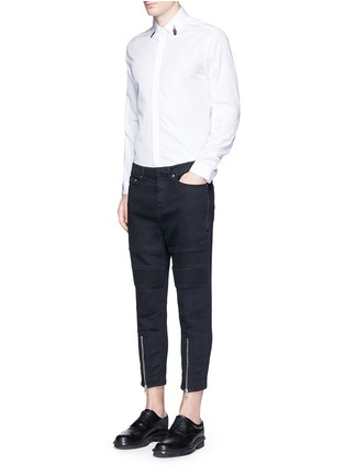 Figure View - Click To Enlarge - Neil Barrett - Japanese jersey denim pants