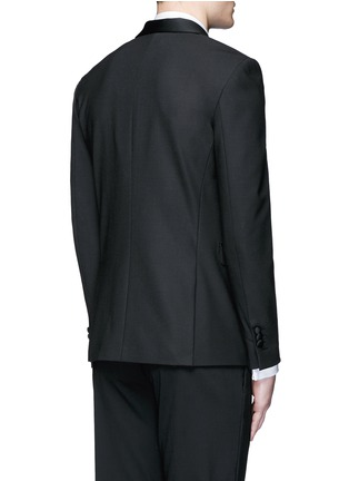Back View - Click To Enlarge - Neil Barrett - Satin shawl lapel tuxedo blazer