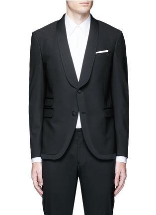 Main View - Click To Enlarge - Neil Barrett - Satin shawl lapel tuxedo blazer