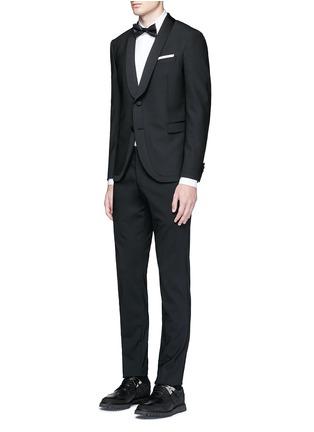 Figure View - Click To Enlarge - NEIL BARRETT - Satin shawl lapel tuxedo blazer