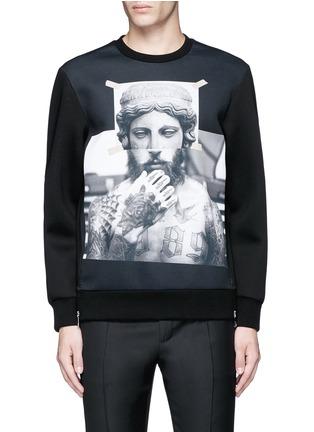 Main View - Click To Enlarge - Neil Barrett - 'Tattoo Sculpture' print sweatshirt
