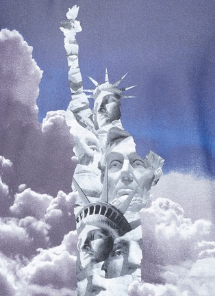 Detail View - Click To Enlarge - NEIL BARRETT - 'Liberty President' print T-shirt