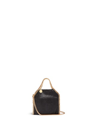 Main View - Click To Enlarge - Stella McCartney - 'Falabella' tiny shaggy deer crossbody chain tote