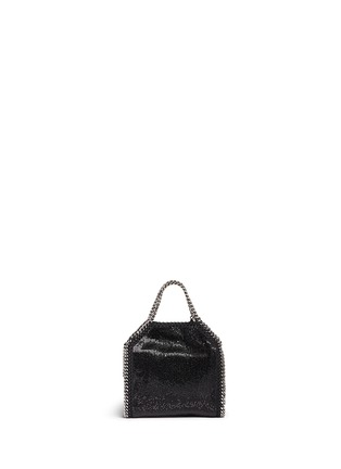 Back View - Click To Enlarge - Stella McCartney - 'Falabella' tiny crystal pavé crossbody chain tote