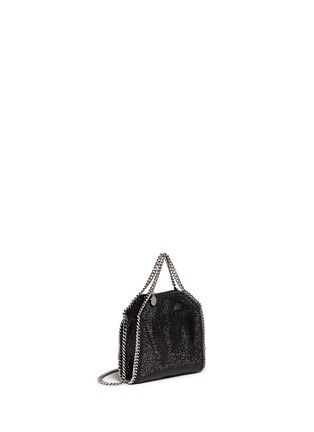 Front View - Click To Enlarge - Stella McCartney - 'Falabella' tiny crystal pavé crossbody chain tote