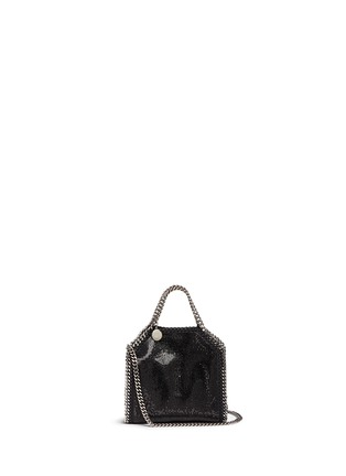 Main View - Click To Enlarge - Stella McCartney - 'Falabella' tiny crystal pavé crossbody chain tote