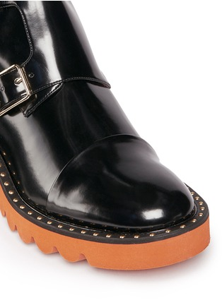 Detail View - Click To Enlarge - STELLA MCCARTNEY - 'Odette' eco patent leather buckle boots
