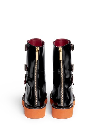 Back View - Click To Enlarge - STELLA MCCARTNEY - 'Odette' eco patent leather buckle boots