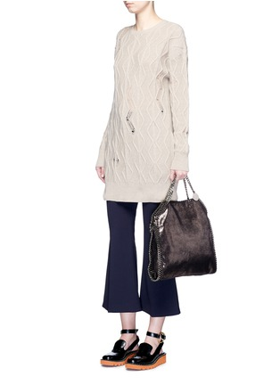 Figure View - Click To Enlarge - Stella McCartney - 'Falabella' small shaggy deer foldover chain tote
