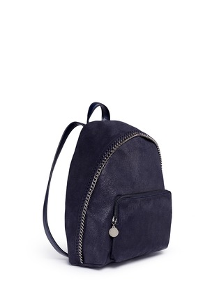 Front View - Click To Enlarge - Stella McCartney - 'Falabella' small shaggy deer chain backpack