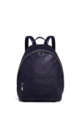 Main View - Click To Enlarge - Stella McCartney - 'Falabella' small shaggy deer chain backpack