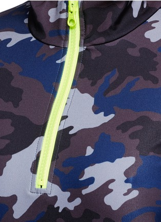 Detail View - Click To Enlarge - Laain - Camouflage print zip front top