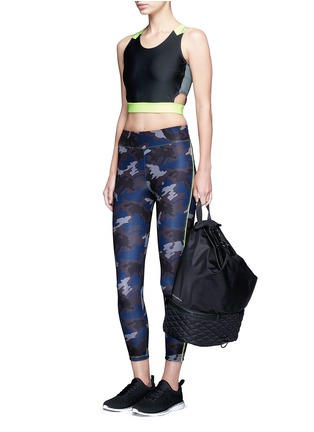 Figure View - Click To Enlarge - Laain - Camouflage performance jersey 3/4 leggings