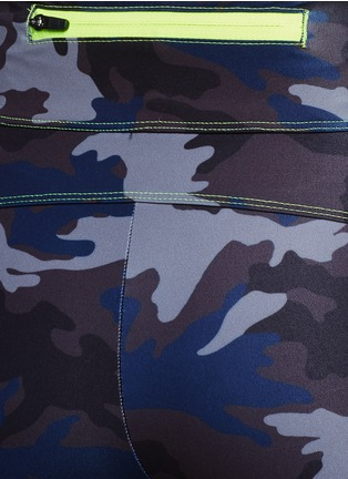 Detail View - Click To Enlarge - Laain - Camouflage performance jersey bike shorts