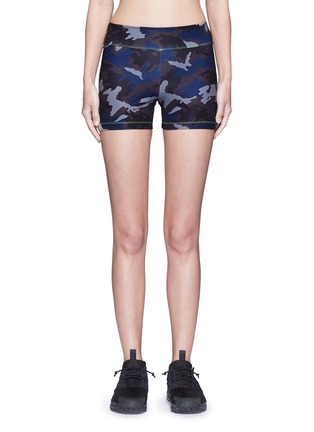 Main View - Click To Enlarge - Laain - Camouflage performance jersey bike shorts