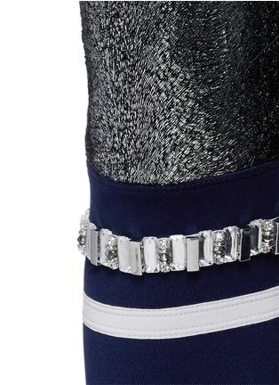 Detail View - Click To Enlarge - No Ka'Oi - 'Kalia' faux fur strass stripe performance leggings